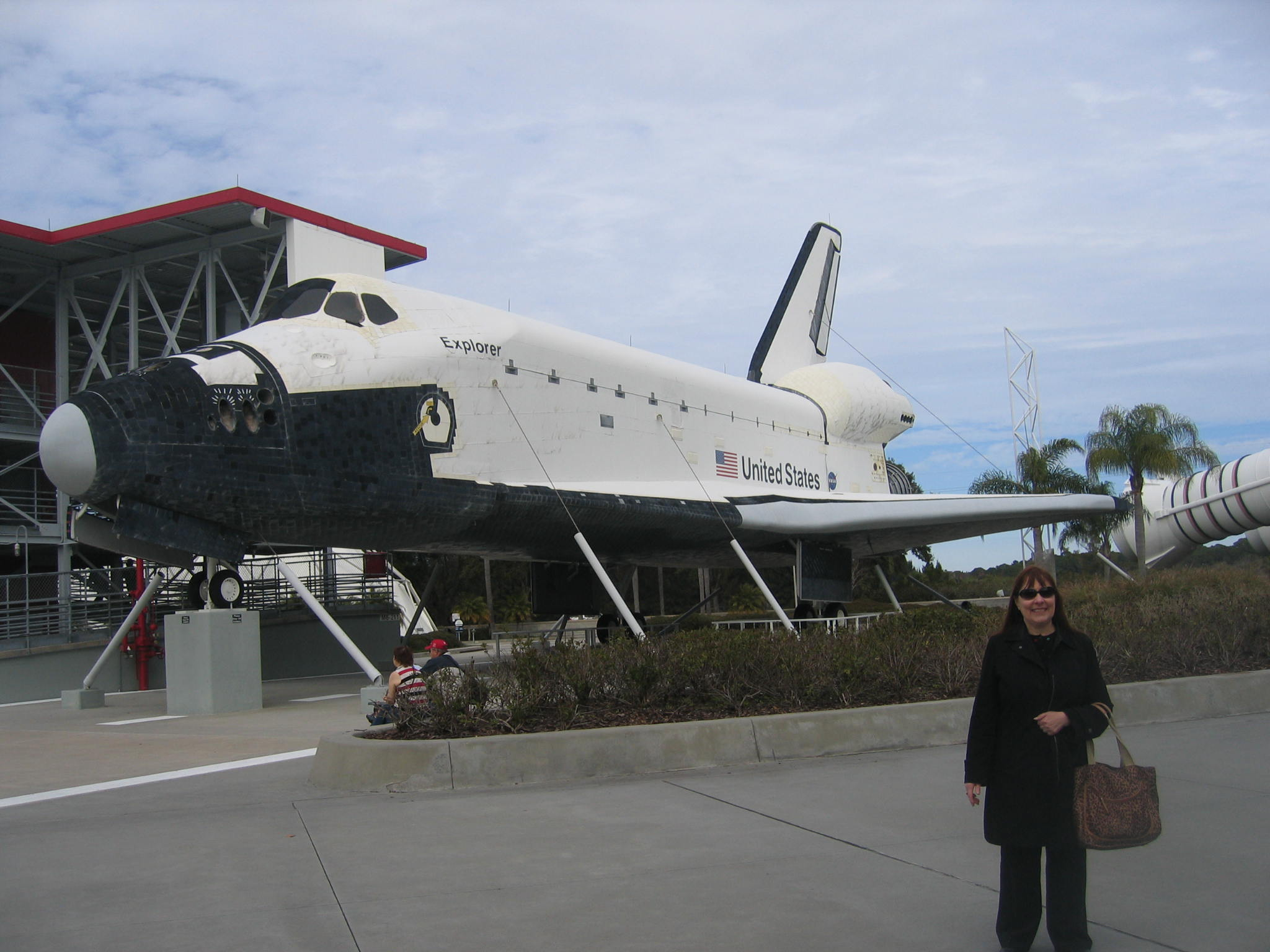 The blog author and NASA Space Shuttle at Kennedy Space Center. All rights reserved.