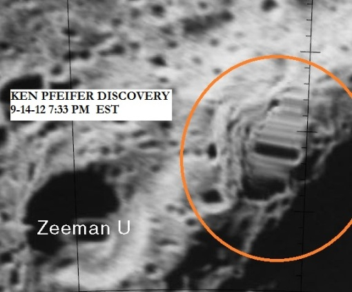Moon anomaly Courtesy Of NASA and Ken Pfeifer.