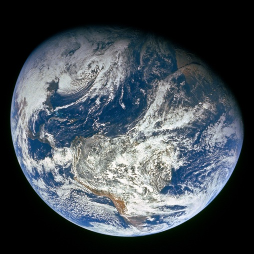 Earth as viewed from NASA's Apollo 8 mission. (courtesy of NASA)