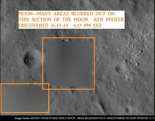An example of purposely blurred photograph of the moon discovered by Ken Pfeifer.