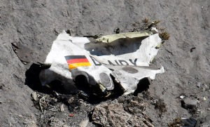Wreckage courtesy of Emmanuel Foudrot/Reuters