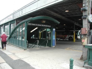 The PATH Station entrance in Hoboken